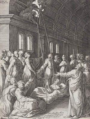 Claes Visscher Starszy Chrystus uzdrawia paralityka