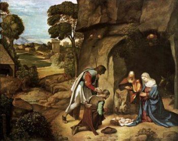 Giorgione Adoracja pasterzy