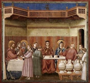Giotto di Bondone Wesele w Kanie Galilejskiej
