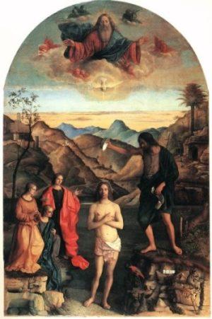 Giovanni Bellini Chrzest Chrystusa
