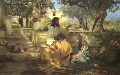 Henryk Siemiradzki Chrystus w domu Marty i Marii