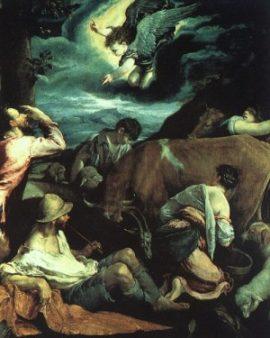 Jacopo Bassano Zwiastowanie pasterzom