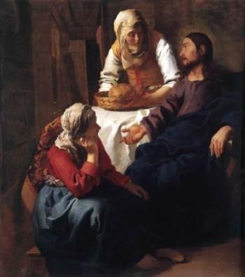 Johannes Vermeer Chrystus w domu Marty i Marii