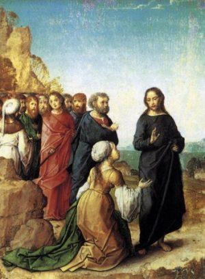 Juan de Flandes Jezus i kobieta kananejska