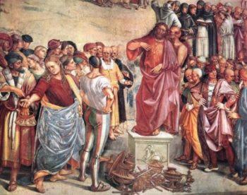 Luca Signorelli Kazanie i uczynki Antychrysta