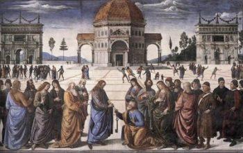 Pietro Perugino Chrystus przekazuje klucze Piotrowi