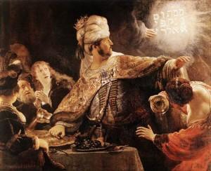 Rembrandt Uczta Baltazara