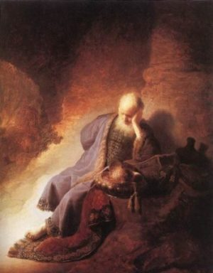 Rembrandt van Rijn Lamentacje Jeremiasza