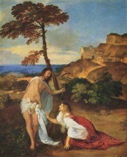 Tycjan Chrystus i Maria Magdalena Noli Me tangere