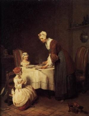 Jean Chardin Modlitwa przed posiłkiem