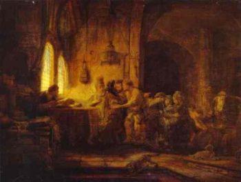 Rembrandt Przypowieść o robotnikach w winnicy