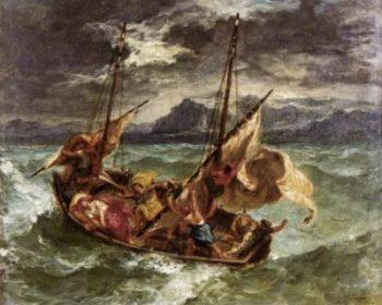 Eugène Delacroix Chrystus na jeziorze Genezaret