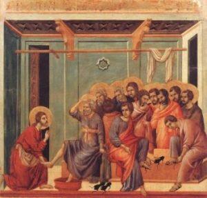 Duccio di Buoninsegna Umycie nóg
