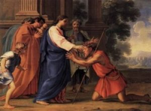 Eustache Le Sueur Chrystus uzdrawia ślepego