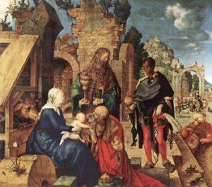Albrecht Dürer Pokłon Trzech Mędrców