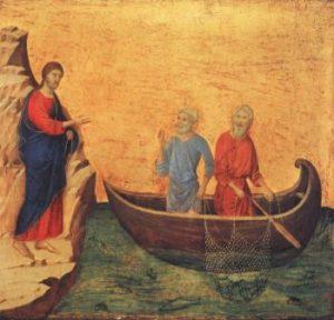 Duccio di Buoninsegna Powołanie Piotra i Andrzeja