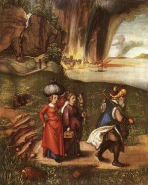 Albrecht Dürer Ucieczka z Sodomy