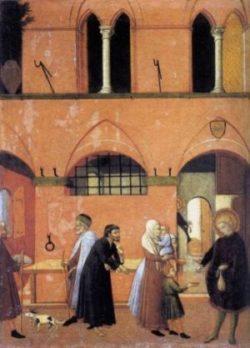 Anonim Święty Antoni rozdaje swoje bogactwo ubogim