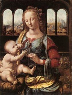 Leonardo da Vinci Madonna z goździkiem