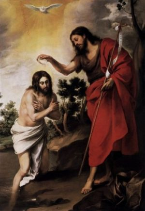 Bartolomé Murillo Chrzest Chrystusa