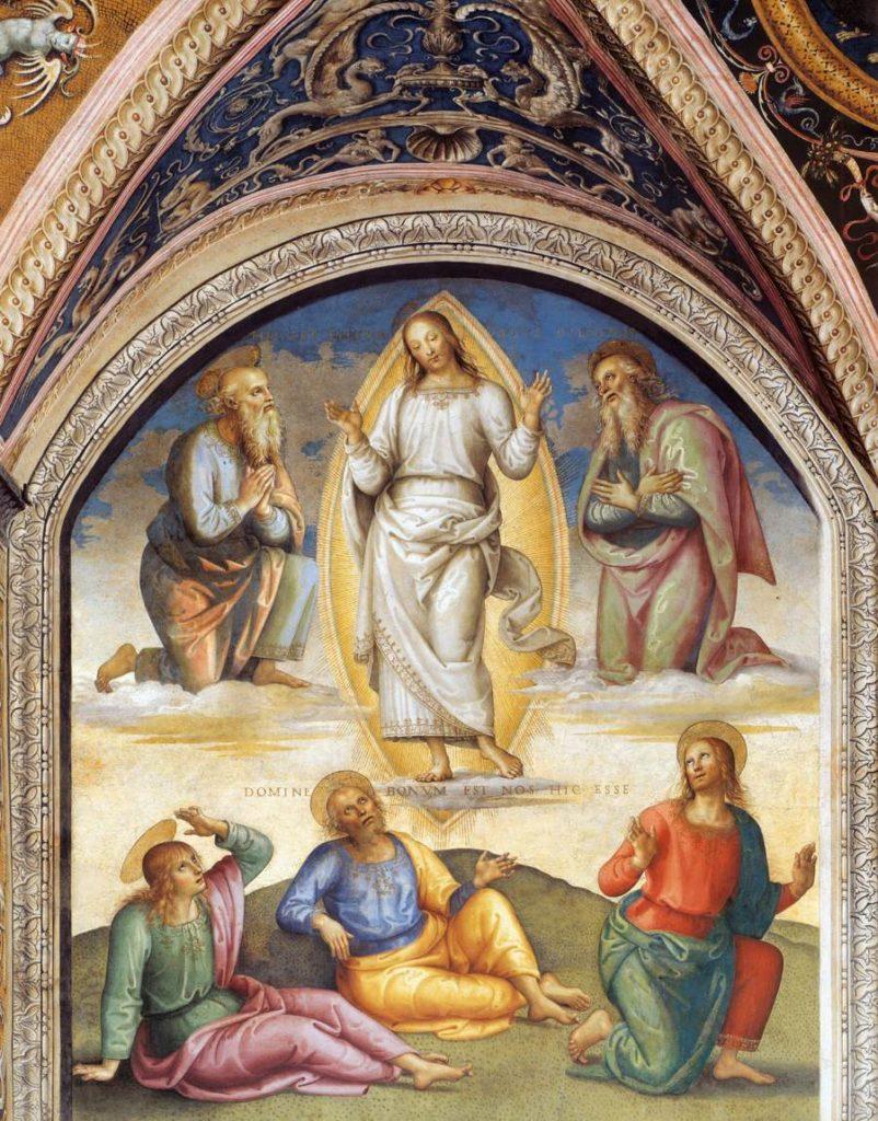 PIetro Perugino Przemienie Chrystusa