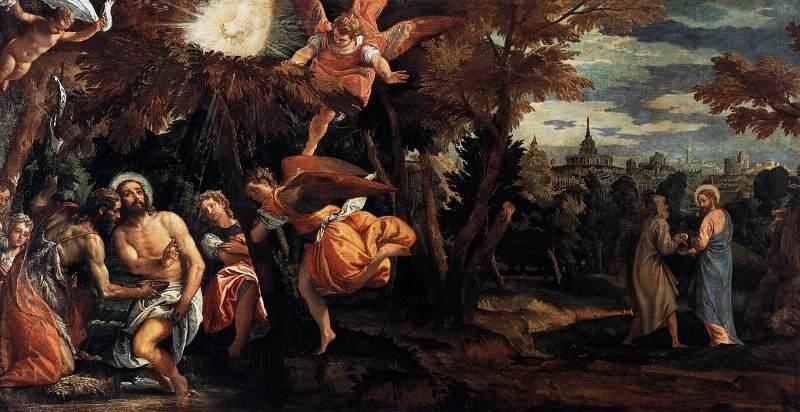 Paolo Veronese Chrzest i kuszenie Jezusa