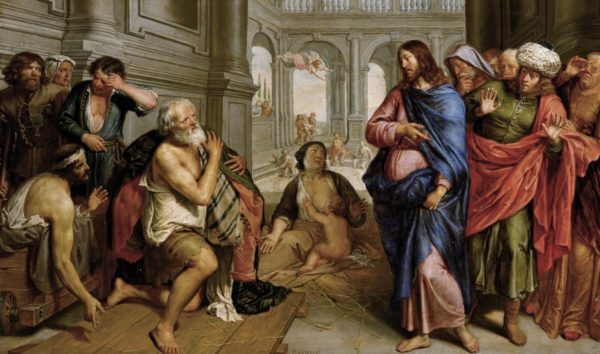 Pieter van Lint Chrystus uzdrawia chromego przy sadzawce Bethesda