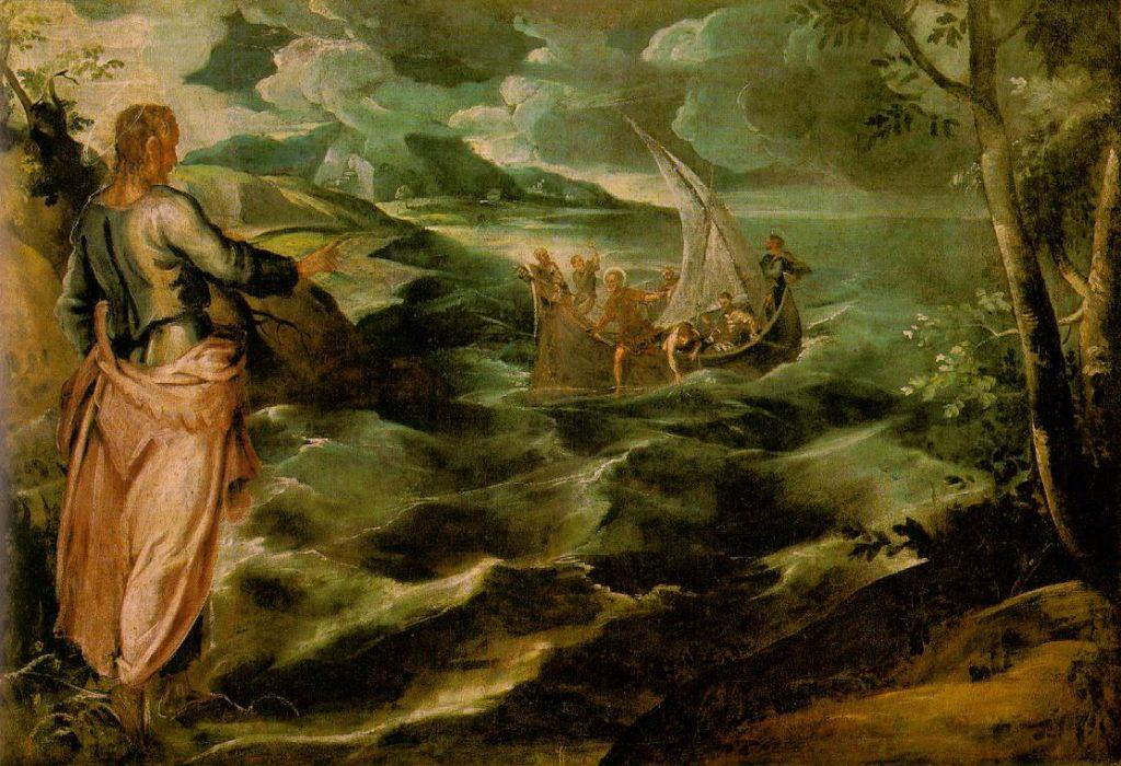 Tintoretto Chrystus na Morzu Galilejskim