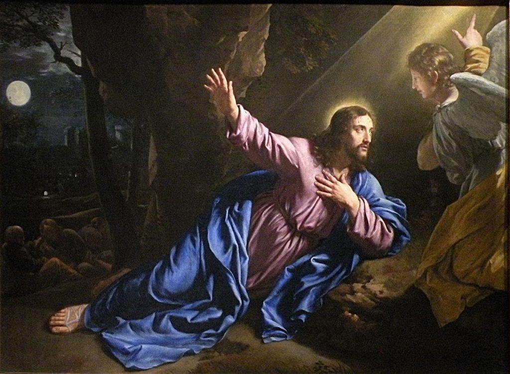 Philippe Champaigne Jezus w Ogrodzie Oliwnym